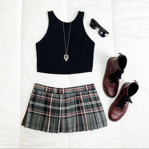 Dogpile | Tartan Plaid Skirt | Size - Small